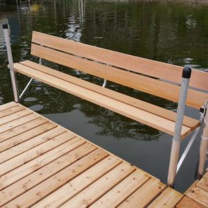 cedar bench dock accessory