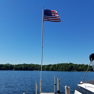 flag pole dock accessory