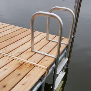 ladder on cedar dock