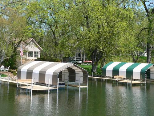 beautiful boathouses on Lake Minnetonka