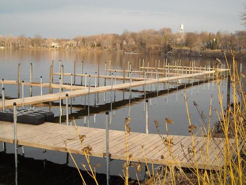 dock along Lake Minnetonka shoreline