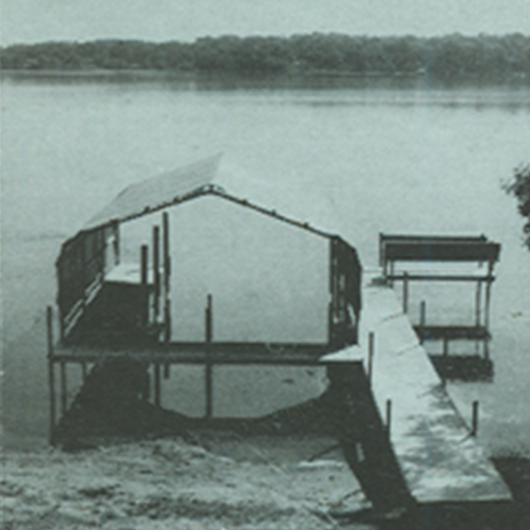 Crepeau Docks boathouse from early days