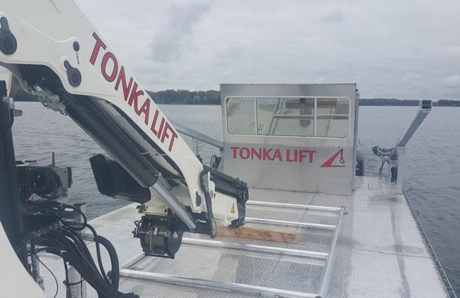 barge on Lake Minnetonka
