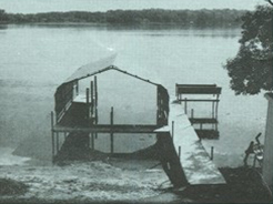 original boathouse of Crepeau Docks