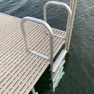 metal ladder on titan decking