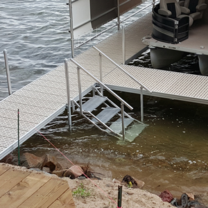 metal stairs dock accessory alternative view