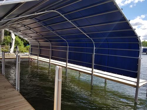 inside of blue boathouse