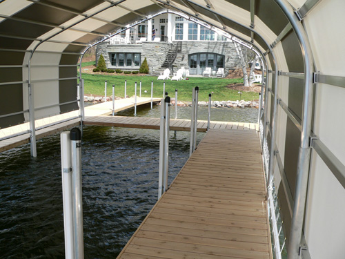 inside view of boathouse