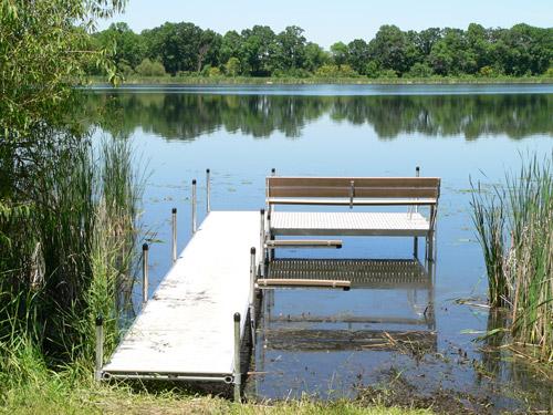 simple titan dock on the lake